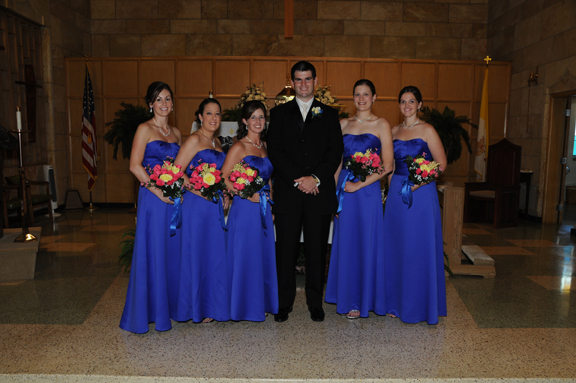 Groom and Bridesmaids Picture